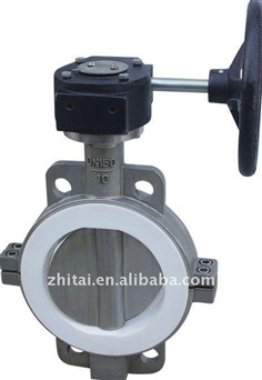 butterfly valve with teflon lining