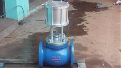 Pneumatic flanged gate valve/knife gate valve/pneumatic globe valve