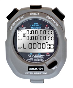 Ultrak 496 Stopwatch  500 Lap Memory Timer