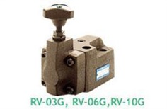 ASHUN RV-03G/RV-06G/RV-10G Series - PILOT OPERATED RELIEF VALVE (SUB-PLATE TYPE)