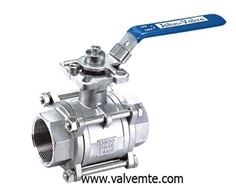 3PC Mount Direct Ball Valve
