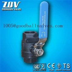 2pc forged ball valve with lock