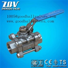 forged and casting steel 3pc ball valve with lock