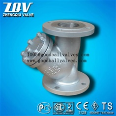 Carbon Steel CS or SS Flanged End Y Wye Strainer