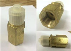"""ฺBaumer"" Damper Connector, Brass Body ARA10L30L G1/2A Male x Female"