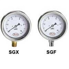 Stainless Steel Low Pressure Gage Series SGX & SGF