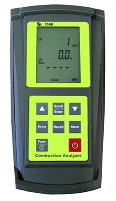 709R Combustion Efficiency Flue Gas Analyzer