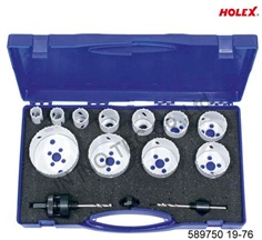Hole saw set 19-76 mm