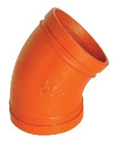 45 elbow grooved fitting