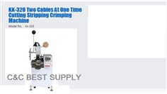 KK-320 Two Cables At One Time Cutting Stripping Crimping Machine