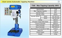 T-80 Gear-Screw Automatic Tapping Machine T-80