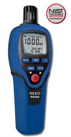Reed R9400 Carbon Monoxide Meter (CO Meter) with Temperature