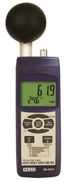 Reed SD-2010 Heat Stress Meter and Data Logger