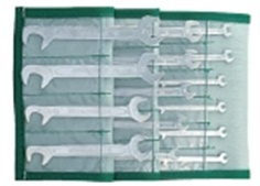 Small double open ended spanner set