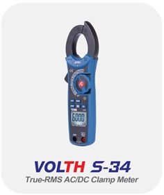 True-RMS 1000A AC/DC Clamp Meters (VOLTH S-34)