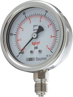 AD All SS Pressure Gauge Bourdon type