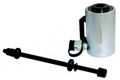 Hydraulic hollow piston cylinder set 20 t with spindle