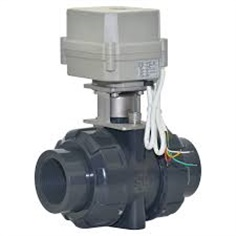 "2 Way Mini 1 1/2"" Inch Motorized  UPVC Ball Valve"