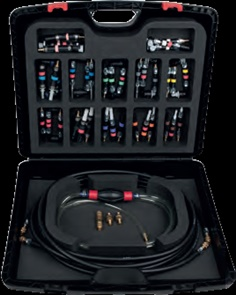 Fuel system testing and cleaning set