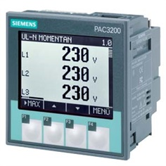 SENTRON, measuring instrument, 7KM PAC3100, LCD, L-L: 480 V, L-N: 277 V, MODBUS RTU, active / reactive energy, Cl. 1 acc. to IEC 61557-12 and IEC62053- 21