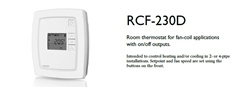 RCF-230D Room thermostat for fan-coil applications with on/off outputs.