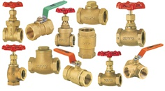 VALVE SCREWED / STAINLESS BRASS / FLANGED