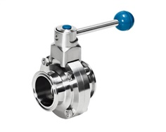 sanitary SS304 and SS316L stainless steel butter flyl valve