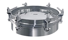 ฝาถังแสตนเลส 304/316L ติดกระจก ,SS304 and SS316L stainless steel sanitary manhole cover with sight glass