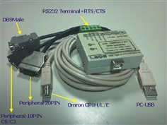 PLC Download Cable - USB to PLC OMRON 5 IN 1 (ISOLATE) รุ่น USB-OMRON 5 IN1