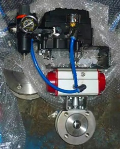Wafer Ball Valves With Pneumatic Actuated