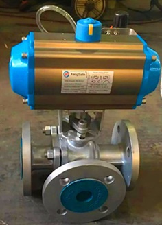 3 way ball valve with pneumatic Control actuator