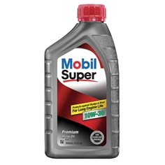 Mobil Super 10W-30, Engine Oil, 1 qt.