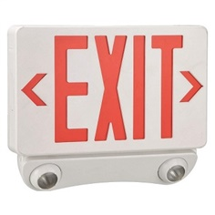 Exit Sign ABS LED 2W, 9-1/2in. H, Red (LUMAPRO)