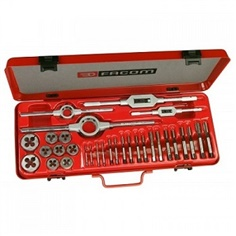 Facom 221.227SJ1 - Cobalt Steel High Performance Tap + Die Set + Case