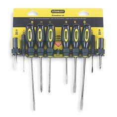 Screwdriver Set, Multicomponent, Number of Pieces: 10