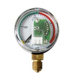 40mm high single scale pressure air plastic case CNG   pressure gauge manometer