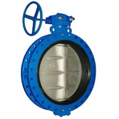 double flange butterfly valve with EPDM seat