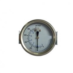 "2.5""-60mm   stainless steel case back type bellows type pressure gauge U-clamp"
