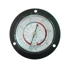 60mm high pressure&low pressure center back with steel flange refrigerant pressure gauge