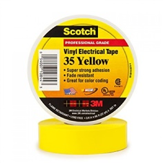 "3M Scotch #35 Electrical Tape 3/4"" X 66 FT (YELLOW)"