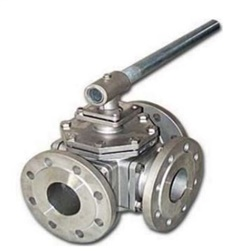 3-WAYS BALL VALVE SS304/316 FLANGE 10K/150P