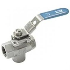 Mounting Pad 3-Way Ball Valve (Vertical)