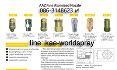 Fine Spray Hydraulic Atomizing Spray Nozzle 086 3148623 เก๋