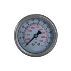 2.5inch-63mm half stainless steel back thread type liquid filled pressure gauge รหัสสินค้า YTN-60D