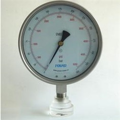 6inch-150mm all SS explosionproof high precision pressure gauge รหัสสินค้า YB-150A-6