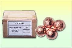 เม็ดทองแดง Copper anode ball Phosphorous (LUVATA)