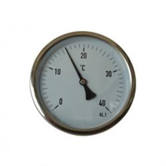 4inch-100mm Back connection bi-metal thermometer 40 ? temperature รหัสสินค้า stainless steel 304-2