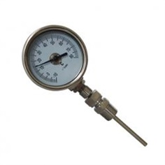 2.5inch-63mm every angel type bi-metal thermometer รหัสสินค้า stainless steel 304