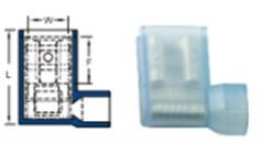 หางปลาข้อต่อหุ้มรูปธง nylon-issulated flag female disconnectorc