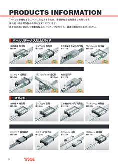THK : Linear Motion Guide LM : Feed Screw / Rotation / Linear Actuator